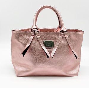 Victoria's Secret Metallic Pink Satchel Bag